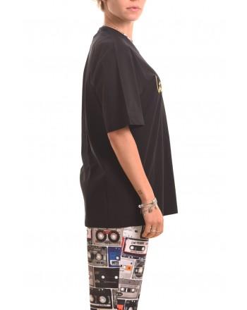 LOVE MOSCHINO - T-Shirt LOVE in cotone - Nero