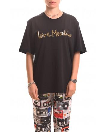 LOVE MOSCHINO - LOVE cotton t-shirt - Black
