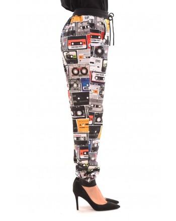 LOVE MOSCHINO - Pantalone in cotone elasticizzato : Fantasia