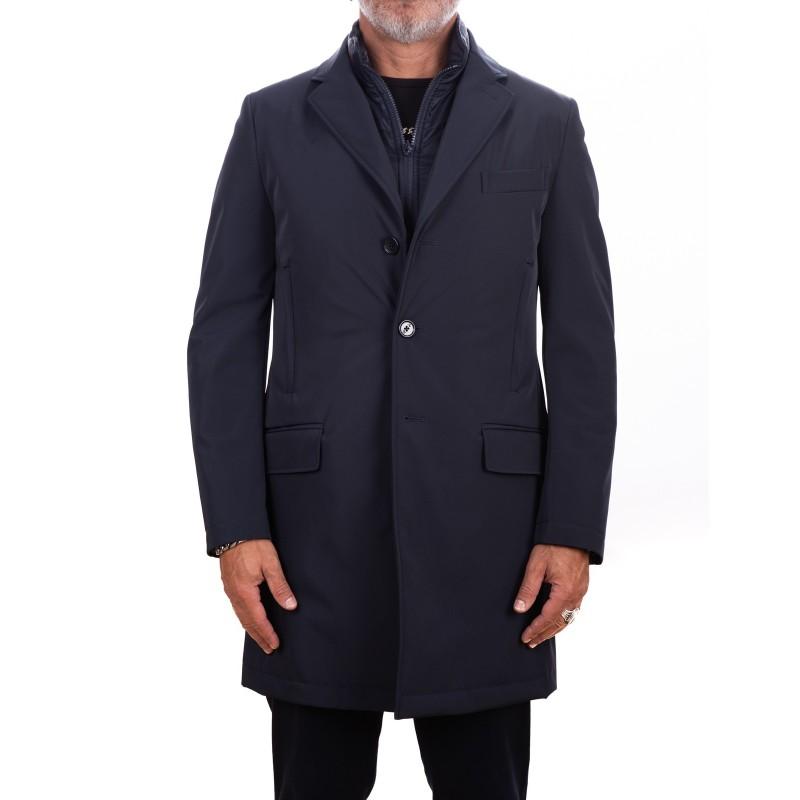 cheaper 5601e d132c FAY - Giacca lunga DOUBLE - Blu