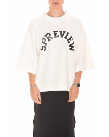 5 PREVIEW - Logo Printed Sweatshirt- Milk