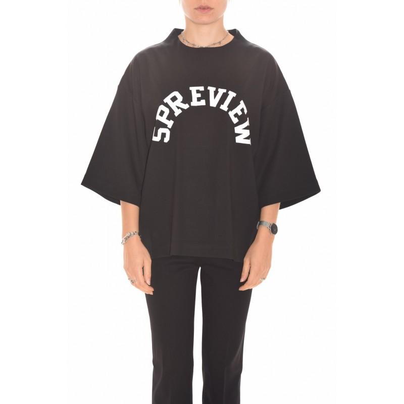 5 PREVIEW - Logo Printed Sweatshirt- Black