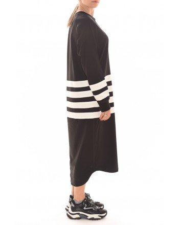 5 PREVIEW - Viscose Dress V206 - Black/White