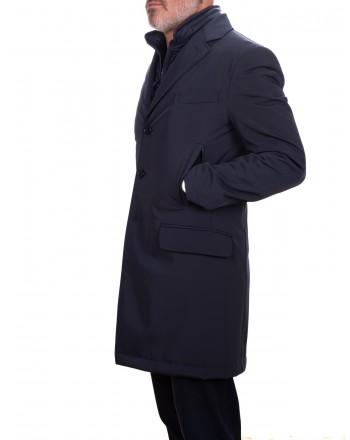 FAY - Long Jacket DOUBLE - Blue
