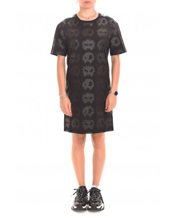 MCQ BY ALEXANDER MCQUEEN - Abito in cotone, MONSTER CODE - Nero