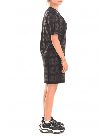 MCQ BY ALEXANDER MCQUEEN - MONSTER CODE cotton dress - Black