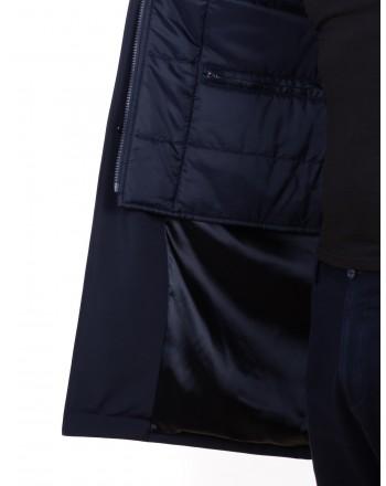 FAY - Giacca lunga DOUBLE - Blu