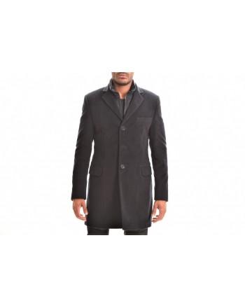 FAY - Cappotto DOUBLE COAT in Fustagno di Cotone - Blu