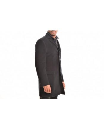 FAY - DOUBLE COAT Cotton Fustian Coat - Blue