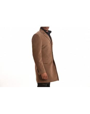 FAY - Cappotto DOUBLE COAT in Fustagno di Cotone - Fango