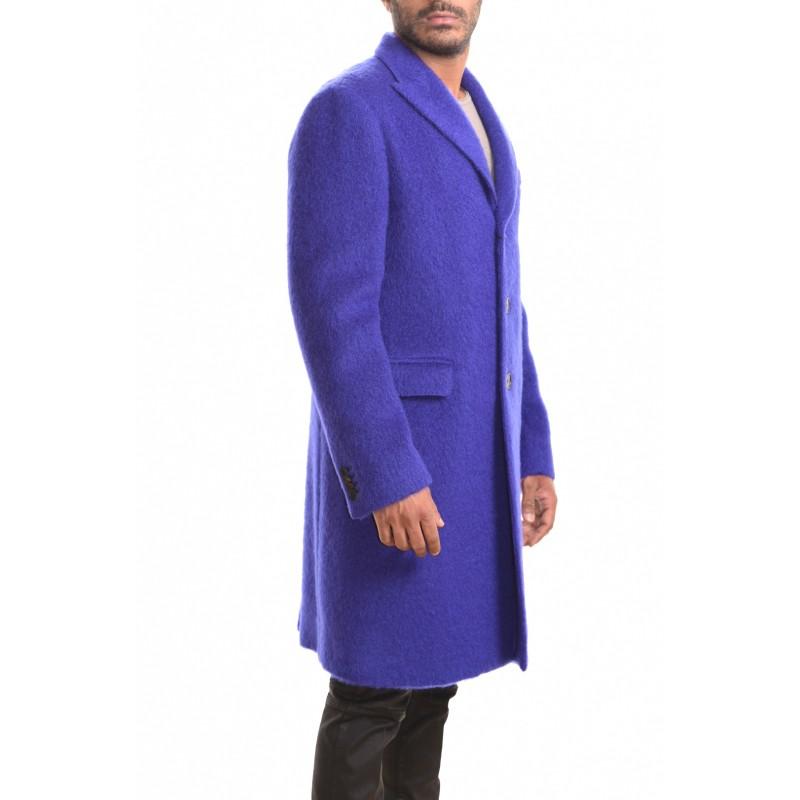 ETRO - Cappotto SEMITRADIZIONALE in mohair - Bluette