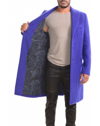 ETRO - SEMITRADIZIONALE coat in mohair - Blue
