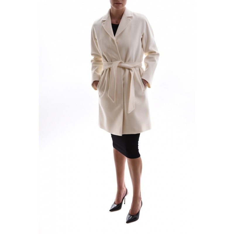 MAX MARA STUDIO - Wool Coat PARSEC  - Wool White