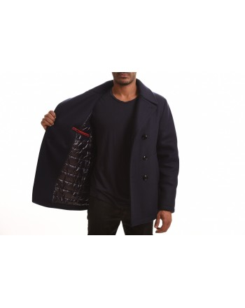 FAY - PEACOT Fustain Doublebreasted Jacket - Blue