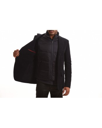 FAY - Giacca DOUBLE JACKET in Fustagno - Blu