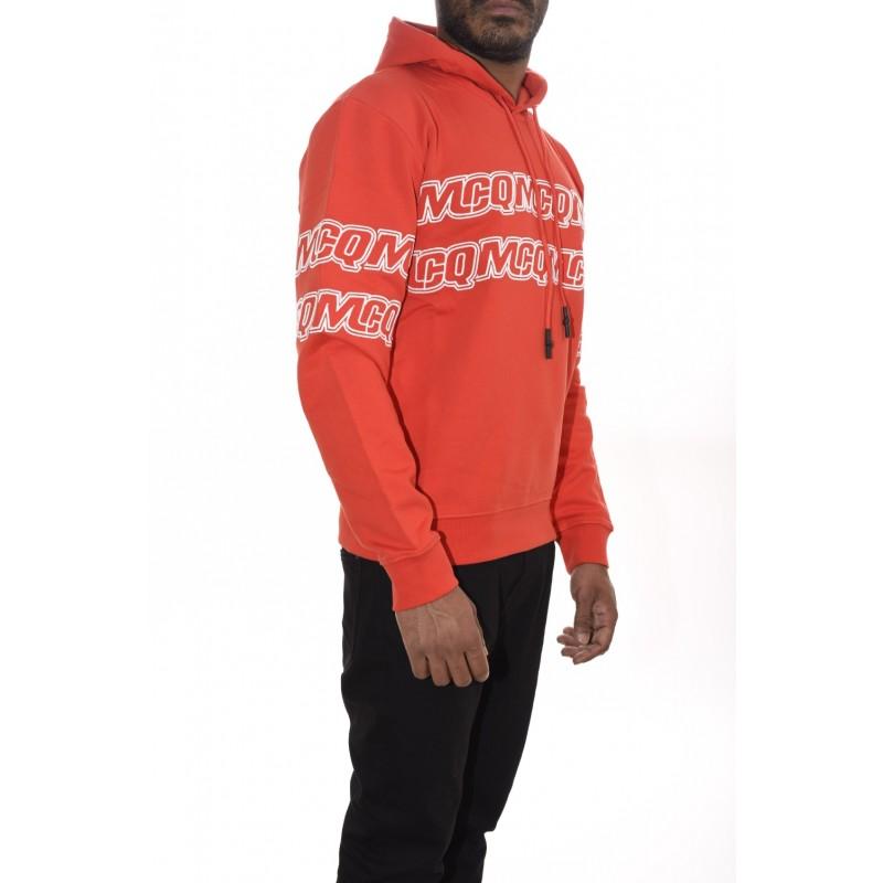 MCQ BY ALEXANDER MCQUEEN - Hoodie sweatshirt CLEAN HOODIE - Solar Red