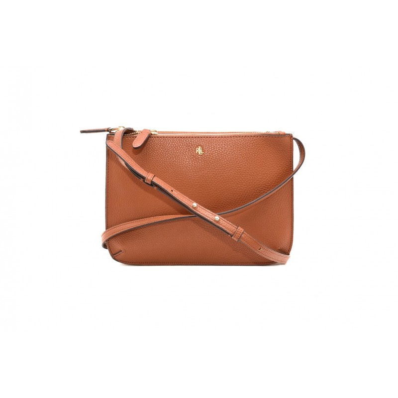POLO RALPH LAUREN - CARTER bag in double zipper leather - Lauren Tan
