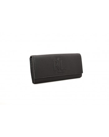 POLO RALPH LAUREN - Wallet in hammered in leather - Black