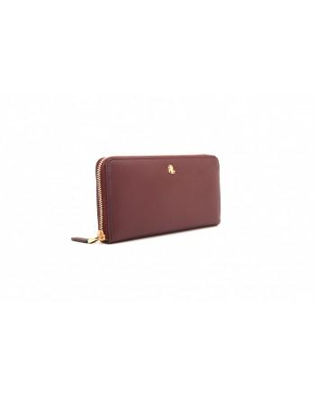 POLO RALPH LAUREN - CONTINENTAL leather wallet - Bordeaux/Brown