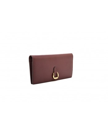 POLO RALPH LAUREN - SLIM wallet in Saffiano leather - Bordeaux
