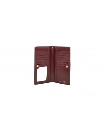 POLO RALPH LAUREN - SLIM wallet in Saffiano leather - Bordeaux