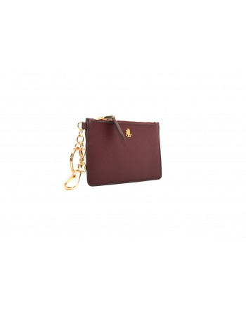 POLO RALPH LAUREN - Leather card holder - Bordeaux