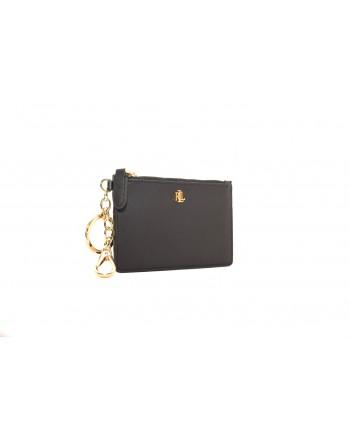 POLO RALPH LAUREN - Leather card holder - Black