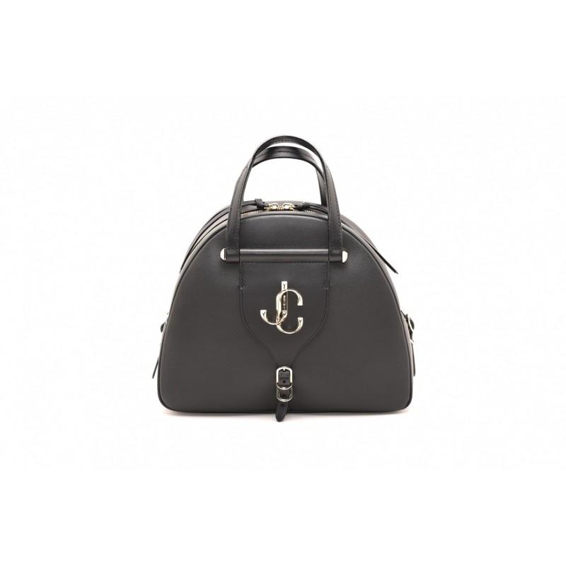 JIMMY CHOO - Leather VARENNE BOWLING Bag - Black