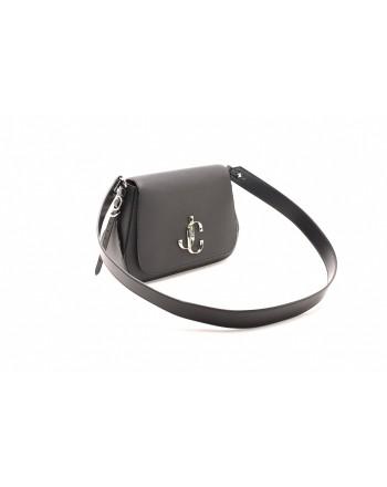 JIMMY CHOO - Leather VARENNE CALF LEATHER Shoulder Bag - Black