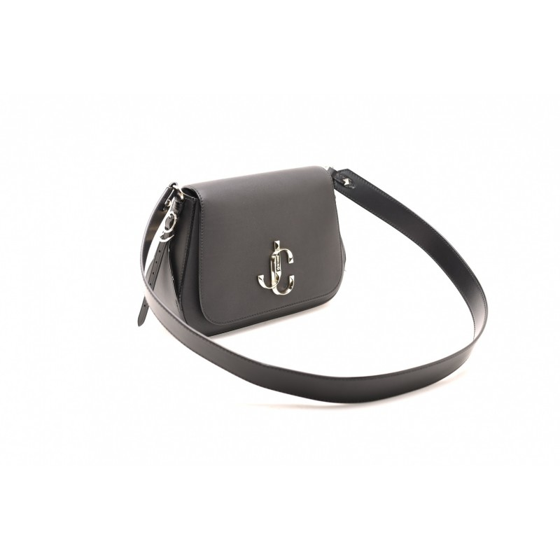 JIMMY CHOO - Borsa a Spalla VARENNE CALF LEATHER  - Nero