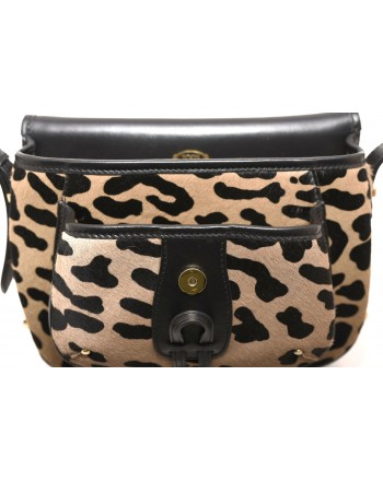 TOD'S - Leather Flat Shoulder Bag - Cappuccino/Black