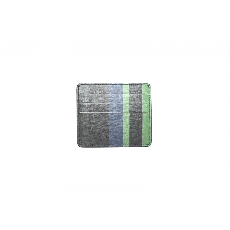 GALLO - Portacarte in pelle con tasca - Navy/Loden