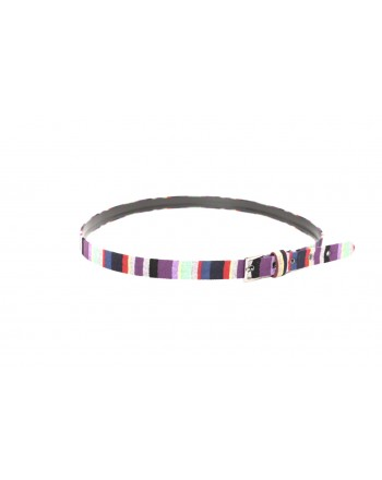 GALLO - Low colored stripet belt in fabric - Multicolour