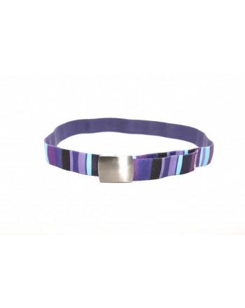 GALLO - Cintura a righe in tessuto - Viola