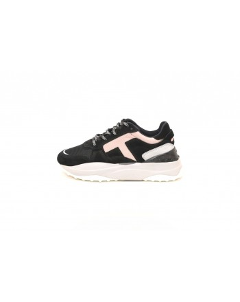 TOD'S - SNEAKERS IN SUEDE AND TECNICAL FABRIC - Black/Pink/Grey
