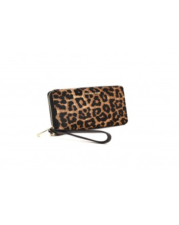 MICHAEL BY MICHAEL KORS - Animalier Leather wristlet - Animalier