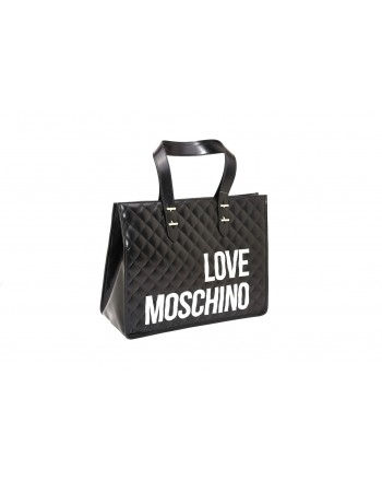 LOVE MOSCHINO - Shopping bag in quilted leather - Black