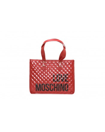 LOVE MOSCHINO - Shopping bag in quilted leather - Red