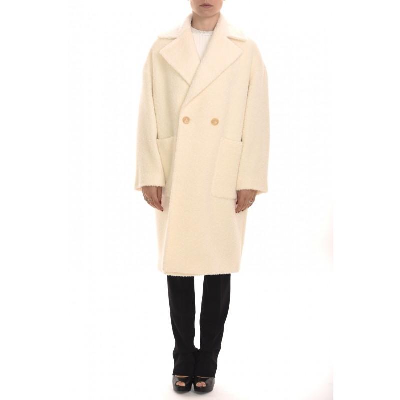 MAX MARA STUDIO - PIOGGIA Double Breasted Wool and Alpaca Coat - Ivory