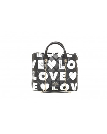 LOVE MOSCHINO - Borsa shopping in pelle trapuntata - Nero