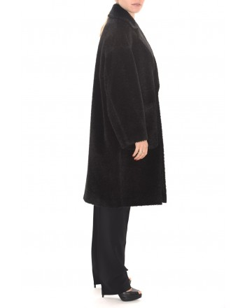 MAX MARA STUDIO - PIOGGIA Double Breasted Wool and Alpaca Coat - Black