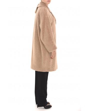 MAX MARA STUDIO - Alpaca and Wool One Breasted Coat GINO - Camel