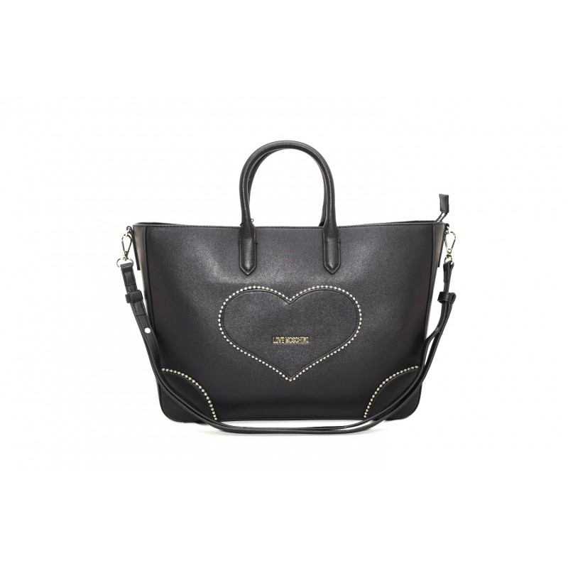 LOVE MOSCHINO - Shopping bag with clutch bag - Black