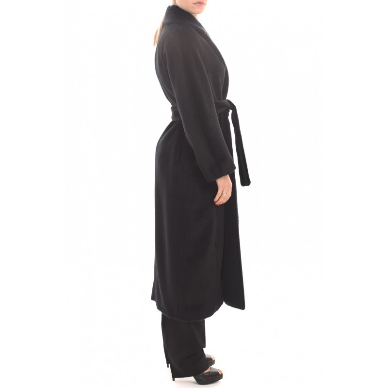 S MAX MARA -  ELVY  Wool Coat - Black