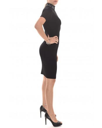 MICHAEL by MICHAEL KORS - Zipper and Logo Neckline Dress - Black