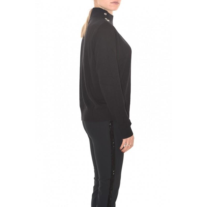MICHAEL by MICHAEL KORS - Metallic Buttons Knit DOME - Black