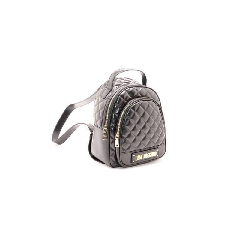 LOVE MOSCHINO - Quilted ecoleather backpack - Black