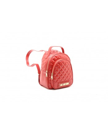 LOVE MOSCHINO - Quilted ecoleather backpack - Red