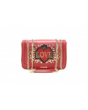 LOVE MOSCHINO - Ecoleather bag with HEART - Red