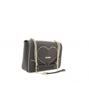 LOVE MOSCHINO - Ecoleather bag with stud - Black